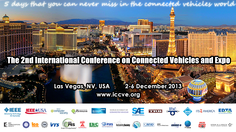 Register Now for IEEE Connected Vehicles 2013 in Las Vegas